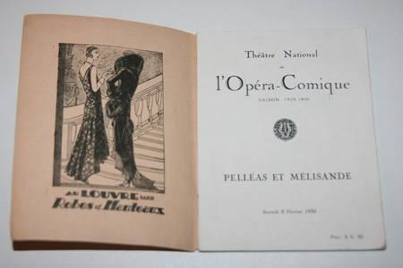 Pelléas et Mélisande - Couverture de Pierre Brissaud - Portraits d'acteurs - Photo 2 - livre moderne