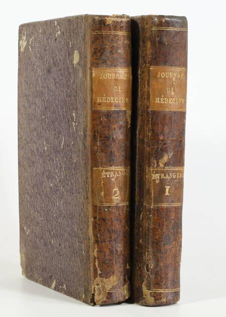 SEDILLOT jeune (Citoyen). Recueil périodique de littérature médicale étrangère; ou supplément au recueil périodique de la Société de Médecine de Paris