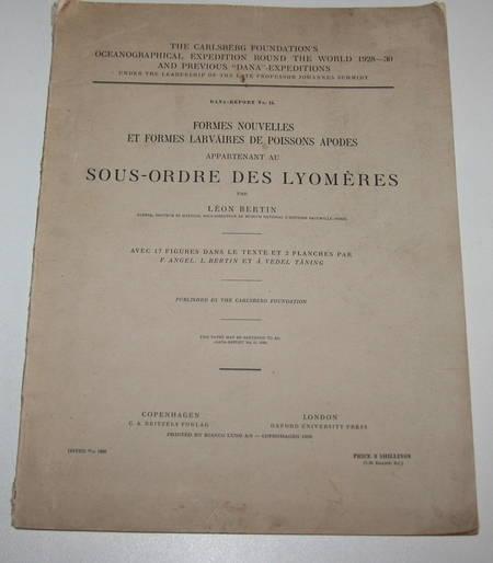 Formes nouvelles et formes larvaires de poissons apodes (Lyomères) 1938 - Photo 1 - livre de bibliophilie