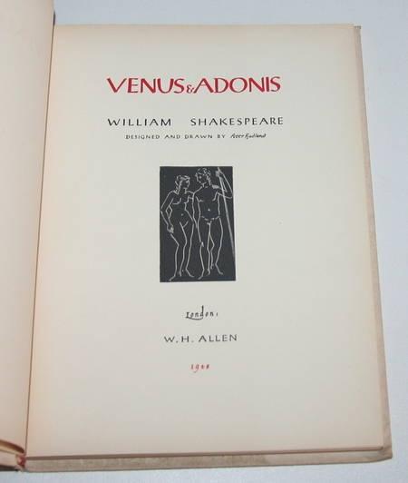 SHAKESPEARE (William) - Venus and Adonis - 1948 - Illustré Peter Rudland - Photo 1 - livre d'occasion