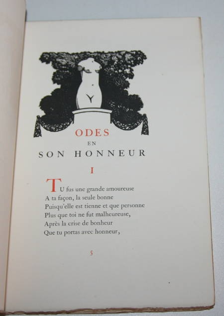 VERLAINE (Paul) - Odes en son honneur - 1921 - Illustration de Carlègle - Photo 0 - livre de bibliophilie