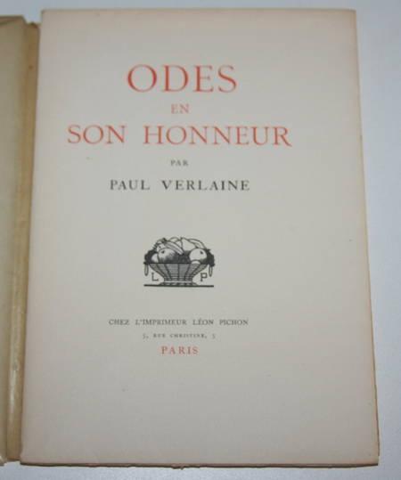 VERLAINE (Paul) - Odes en son honneur - 1921 - Illustration de Carlègle - Photo 1 - livre de bibliophilie