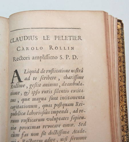 Comes rusticus ex optimis latinae linguae scriptoribus excerptus 1708 - Photo 4 - livre de bibliophilie
