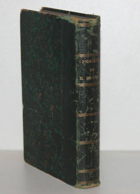 Pensées de Pascal, précédées de sa vie, par Mme Périer, sa soeur - Didot - 1873 - Photo 1 - livre de collection