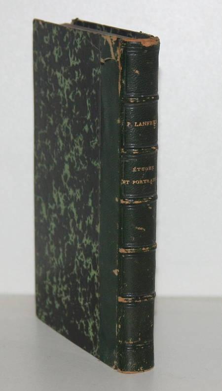 LANFREY (P.). Etudes et portraits politiques