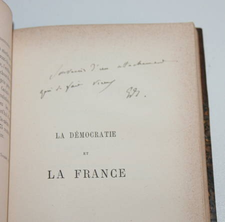 SCHERER (Edmond) - La révision de la constitution - 1882 - Relié - Dédicace - Photo 0 - livre de collection