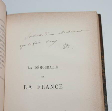 SCHERER (Edmond). La révision de la constitution. [Suivi de :] La démocratie en France