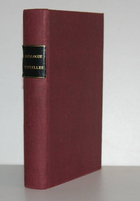 HYMANS (Henri). Catalogue des estampes d'ornement faisant partie des collections de la bibliothèque royale de Belgique, classé par nature d'objets, suivi d'un index alphabétique des noms d'auteurs et accompagnés de planches, livre rare du XXe siècle
