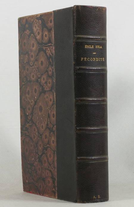 ZOLA (Emile). Fécondité, livre rare du XXe siècle