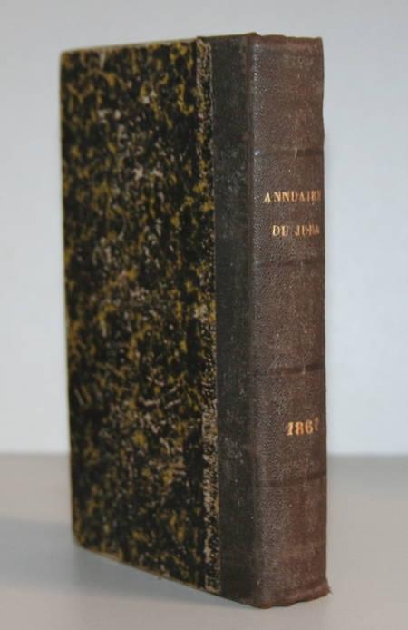 MONNIER (Désiré). Annuaire du Jura pour l'année 1861, livre rare du XIXe siècle