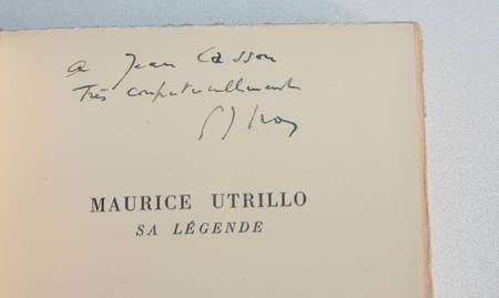 GROS (Gabriel-Joseph). Utrillo. Sa légende, livre rare du XXe siècle