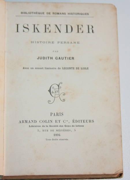GAUTIER (Judith) - Iskender - 1894 - Relié - Rare - Photo 1 - livre de bibliophilie