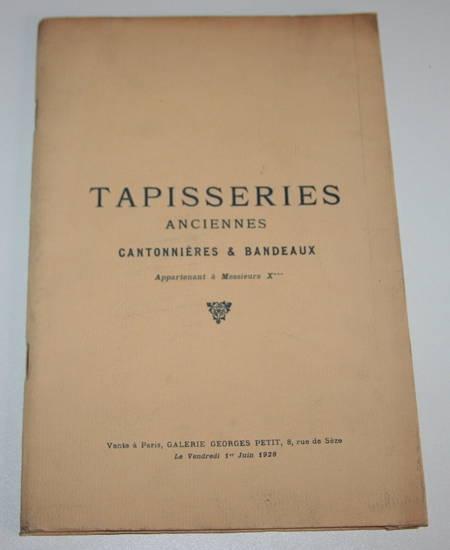 Tapisseries anciennes - Beauvais - Cantonnières et bandeaux - 1928 - Photo 0 - livre rare