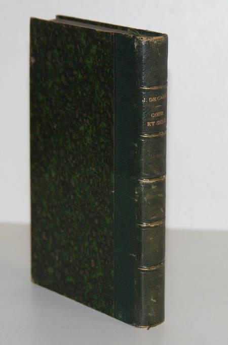 CARNE (Jules de). Coeur et sens. Scènes de la vie réelle, livre rare du XIXe siècle