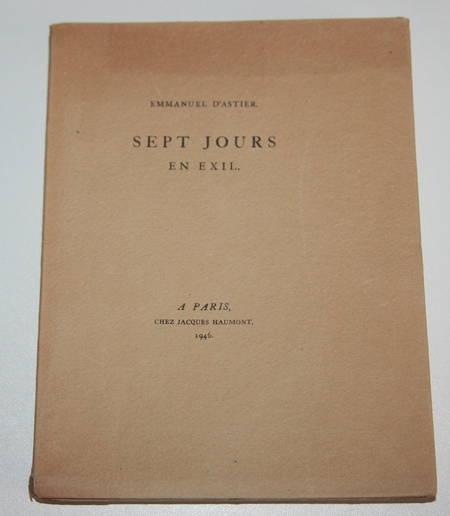 Emmanuel d'Astier - Sept jours en exil - 1946 - Photo 0 - livre du XXe siècle