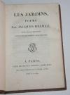 DELILLE - Les jardins ou l art d embellir les paysages - 1801 - Reliure signée - Photo 1 - livre de collection