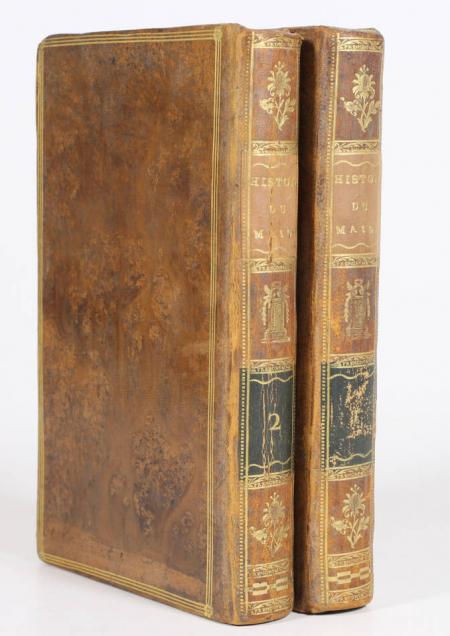 RENOUARD - Essais historiques et littéraires sur le Maine - 1811 Reliure signée - Photo 1 - livre de bibliophilie