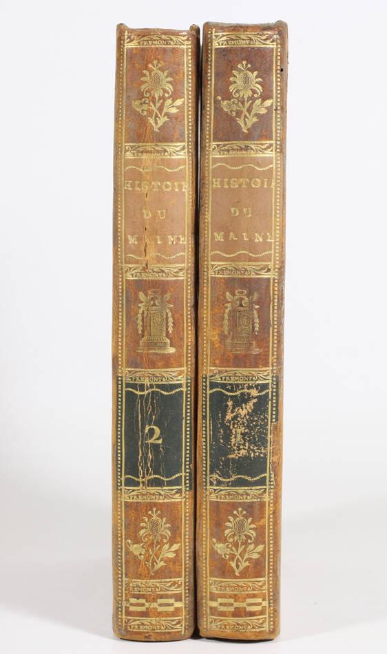 RENOUARD - Essais historiques sur le Maine 1811 Reliure signée du doreur Frémont - Photo 2, livre ancien du XIXe siècle