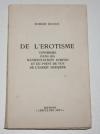 DESNOS (Robert) - De l érotisme dans ses manifestations écrites -  EO Non coupé - Photo 0, livre rare du XXe siècle
