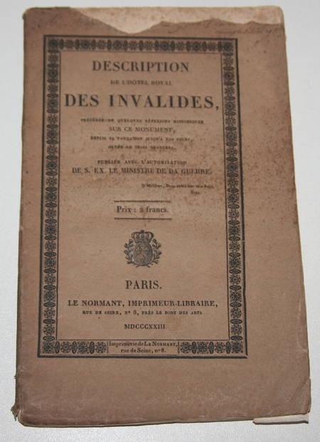 Riveau - Description de l'hôtel royal des Invalides - 1823 - gravures - Photo 1 - livre de collection