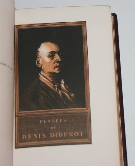 DIDEROT (Denis). Pensées philosophiques. Suivies du Rêve de d'Alembert, livre rare du XXe siècle