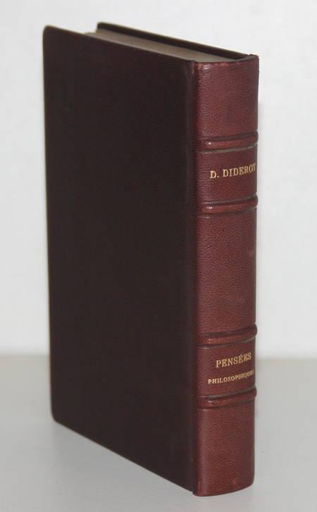DIDEROT (Denis) - Pensées philosophiques - Relié - 1926 - Levitski Paul Baudier - Photo 3 - livre moderne
