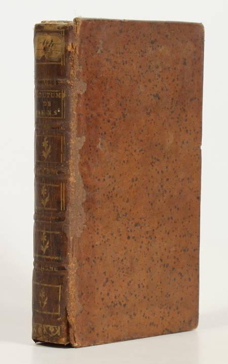 Coutumes du bailliage de Sens avec les notes de Me. Jean Penon - 1732 - Photo 1 - livre rare