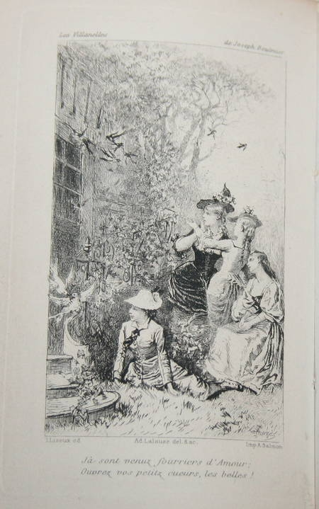 BOULMIER - Les Villanelles - 1879 - Eau-forte de Lalauze - Photo 0 - livre du XIXe siècle