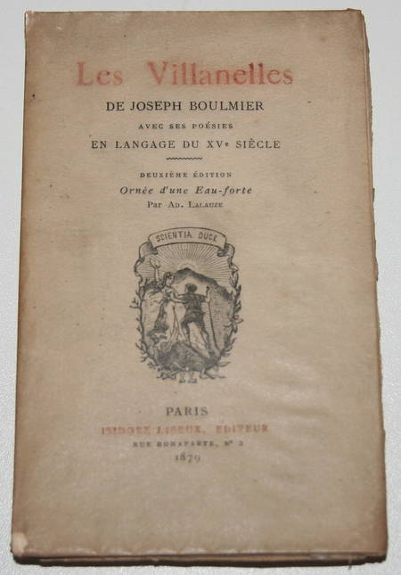 BOULMIER - Les Villanelles - 1879 - Eau-forte de Lalauze - Photo 1 - livre du XIXe siècle