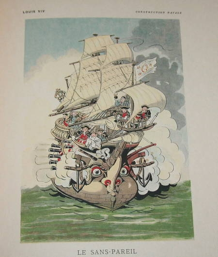 SAHIB [Louis-Ernest Lesage]. La Marine. Croquis humoristiques. Marins et navires anciens et modernes, livre rare du XIXe siècle