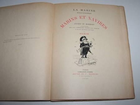 SAHIB - Marins et navires anciens et modernes Croquis humoristiques 1890 / Japon - Photo 1 - livre rare