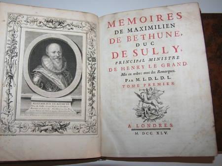 Mémoires de Sully - 3 vol. in-4 - 1745 - EO - Bibliothèque de Lamoignon - Photo 3 - livre rare