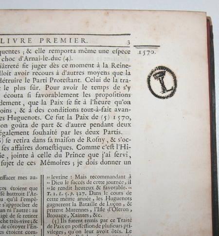 Mémoires de Sully - 3 vol. in-4 - 1745 - EO - Bibliothèque de Lamoignon - Photo 4 - livre rare