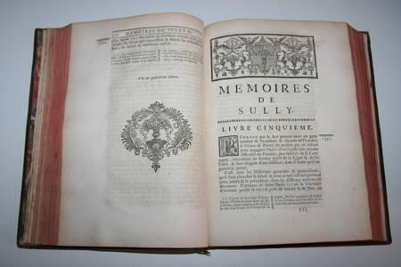 Mémoires de Sully - 3 vol. in-4 - 1745 - EO - Bibliothèque de Lamoignon - Photo 5 - livre rare