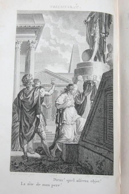 Oeuvres de Crébillon - 3 volumes reliés - 1812 - Gravures de Marillier - Photo 0 - livre du XIXe siècle