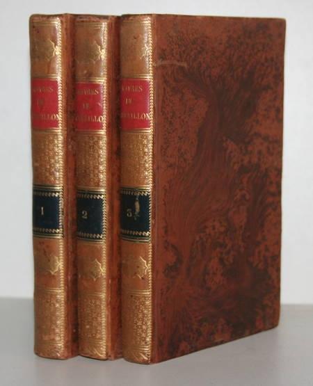 Oeuvres de Crébillon - 3 volumes reliés - 1812 - Gravures de Marillier - Photo 1 - livre de collection