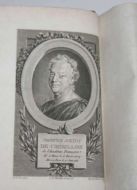 Oeuvres de Crébillon - 3 volumes reliés - 1812 - Gravures de Marillier - Photo 3 - livre du XIXe siècle