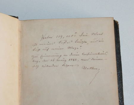 Gesangbuch - Strasbourg - 1808 - Intéressante reliure datée de 1845 - Photo 1 - livre de collection