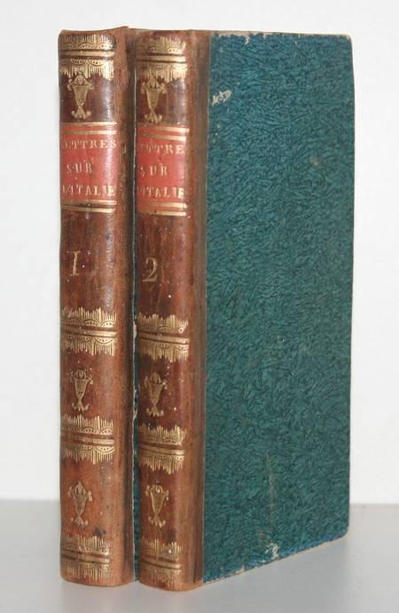 DUPATY - Lettres sur l'ITALIE - Lausanne - 1796 - 2 volumes reliés - Photo 0 - livre d'occasion