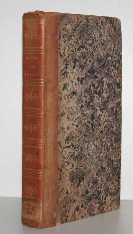 DUPATY. Lettres sur l'Italie, livre rare du XIXe siècle