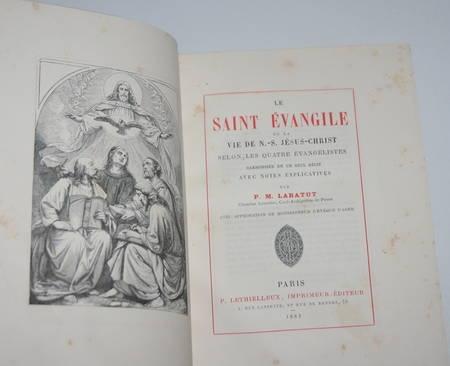 Le saint évangile par Labatut, curé de Penne du diocèse d'Agen 1883 - Bien relié - Photo 1 - livre d'occasion