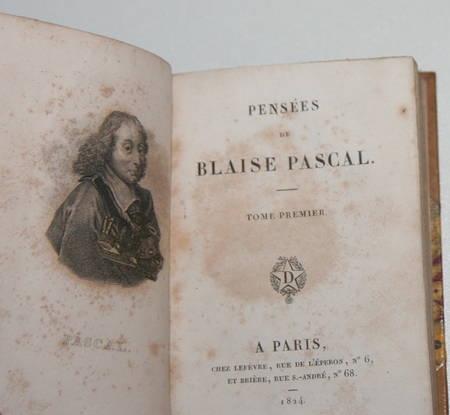 Les pensées de Blaise Pascal - 1824 - 2 petits formats - curieux collage - Photo 1 - livre rare