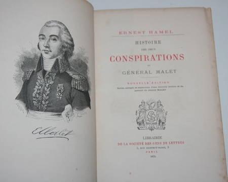 Hamel - Histoire des deux conspirations du général Malet 1873 - Portrait - Relié - Photo 0 - livre du XIXe siècle