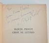 Proust Choix de lettres - Présentées et datées par Philipp Kolb - 1965 Dédicace - Photo 0 - livre d occasion