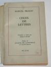 Proust Choix de lettres - Présentées et datées par Philipp Kolb - 1965 Dédicace - Photo 1 - livre d occasion