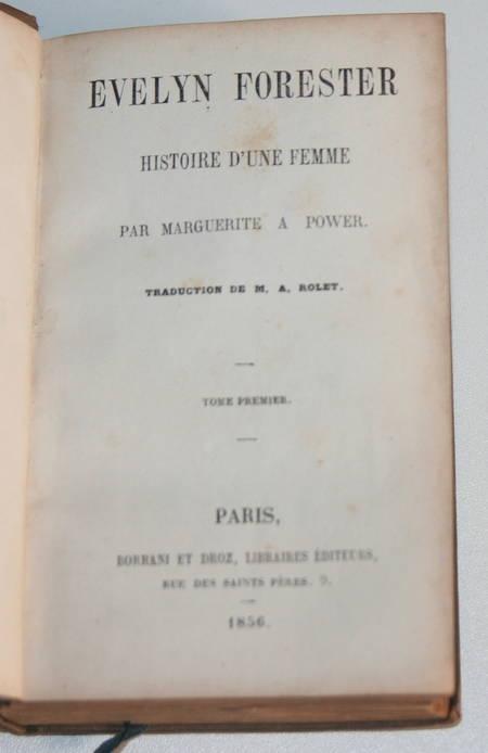 Power - Evelyn Forester. Histoire d'une femme - 1856 - Photo 0 - livre d'occasion