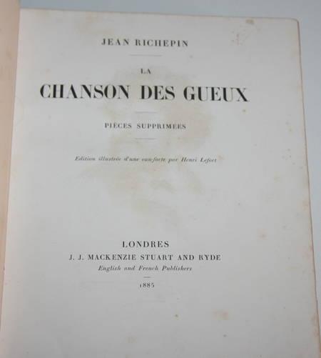 La chanson des gueux + Pièces supprimées - 1885 - Eaux fortes de Ridouard - Photo 4 - livre rare