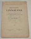 Bibliographia Linnaeana - Matériaux pour une bibliographie linnéenne - 1907 - Photo 0, livre rare du XXe siècle
