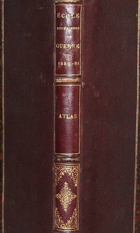 ATLAS de l'Ecole supérieure de GUERRE - 1880-1881 - Relié - Photo 0 - livre de collection