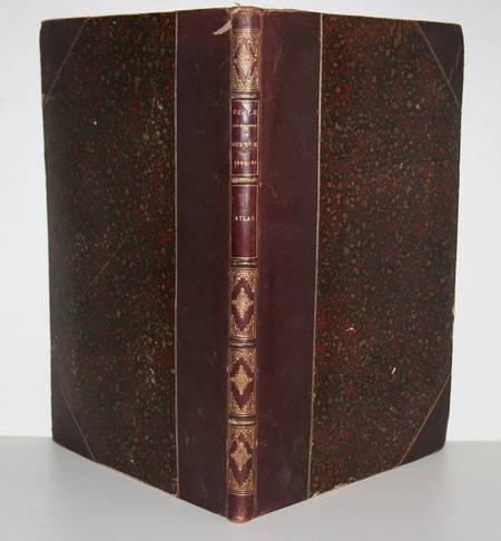 ATLAS de l'Ecole supérieure de GUERRE - 1880-1881 - Relié - Photo 2 - livre rare